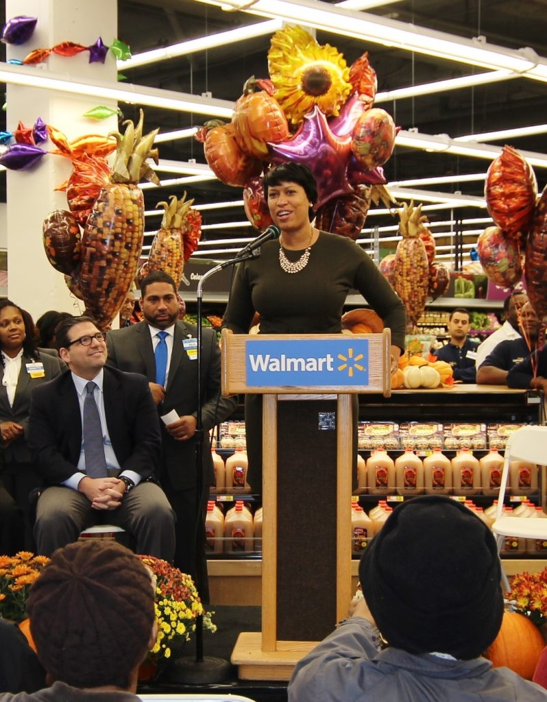 Mayor Bowser at Fort Totten Walmart Opening